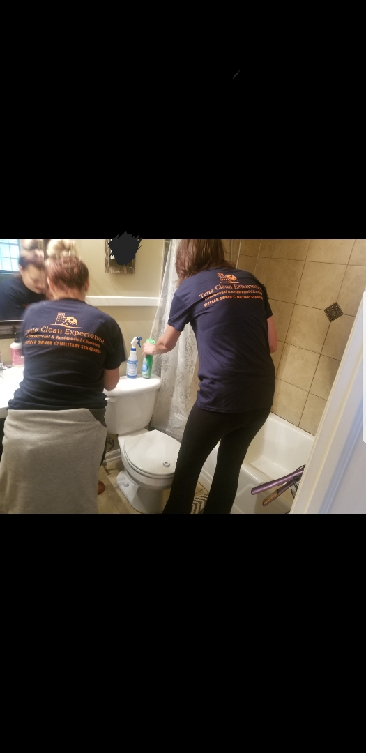 Training on cleaning bathrooms. Disinfecting and making sure the bathrooms are sparkling clean. Greensboro Residential Cleaning