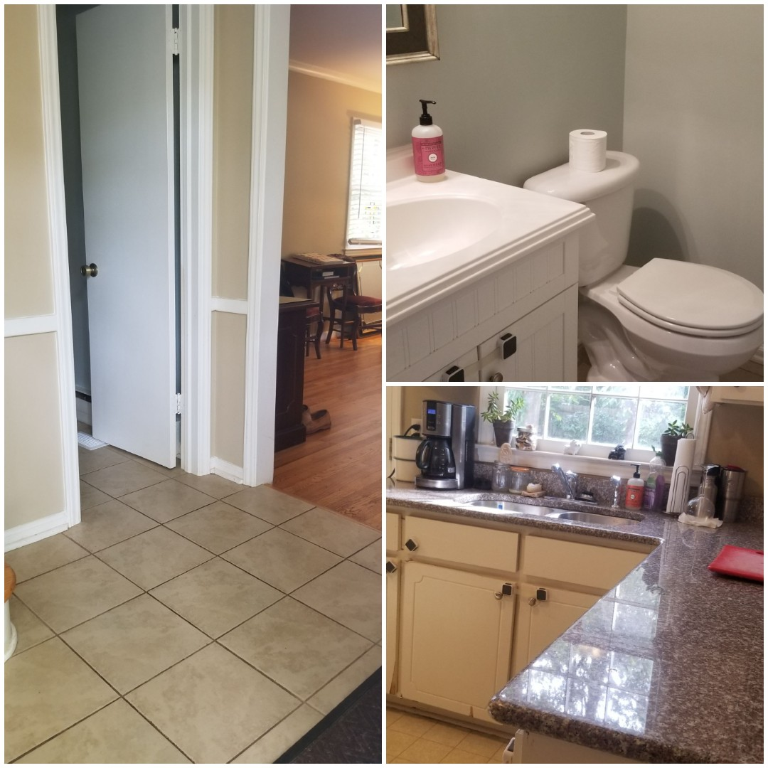 In Greensboro area today just completed a house cleaning.   Sparkling clean bathrooms, client loved this.   Greensboro NC cleaning a house today