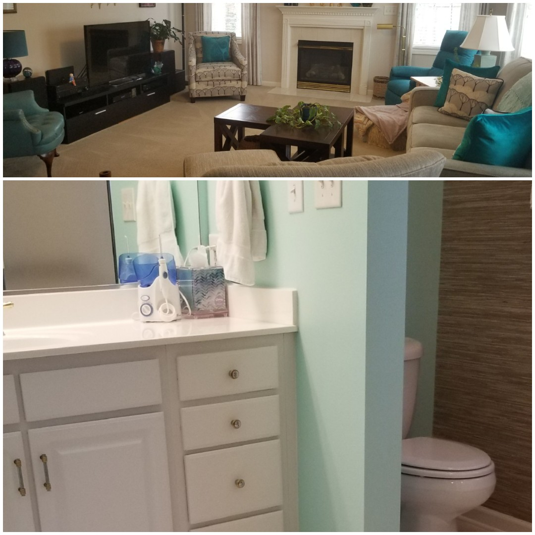 Greensboro, NC - Just finished a house cleaning in the Greensboro area! Client loved the clean shining bathrooms and cozy clean living room!