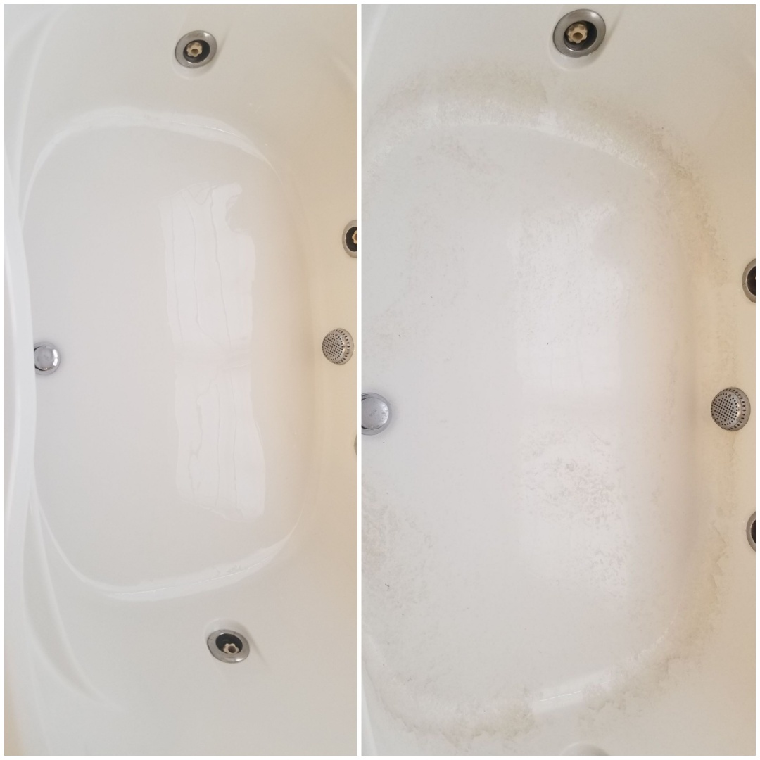 Stokesdale, NC - Before and after pictures of house I just cleaned in the Stokesdale area. Client loved her sparkling clean bathroom.