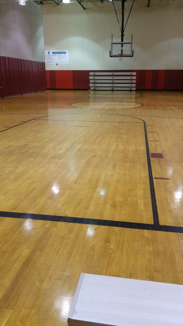 TCE can clean a whole gym with ease!  For a gym clean up there a multiple layers to the cleaning. We scrape the gum and anything else sticky off the floor, we do a good dust mop, remove all trash dust and debri and then run the autoscrubber to finish it off with a nice clean.