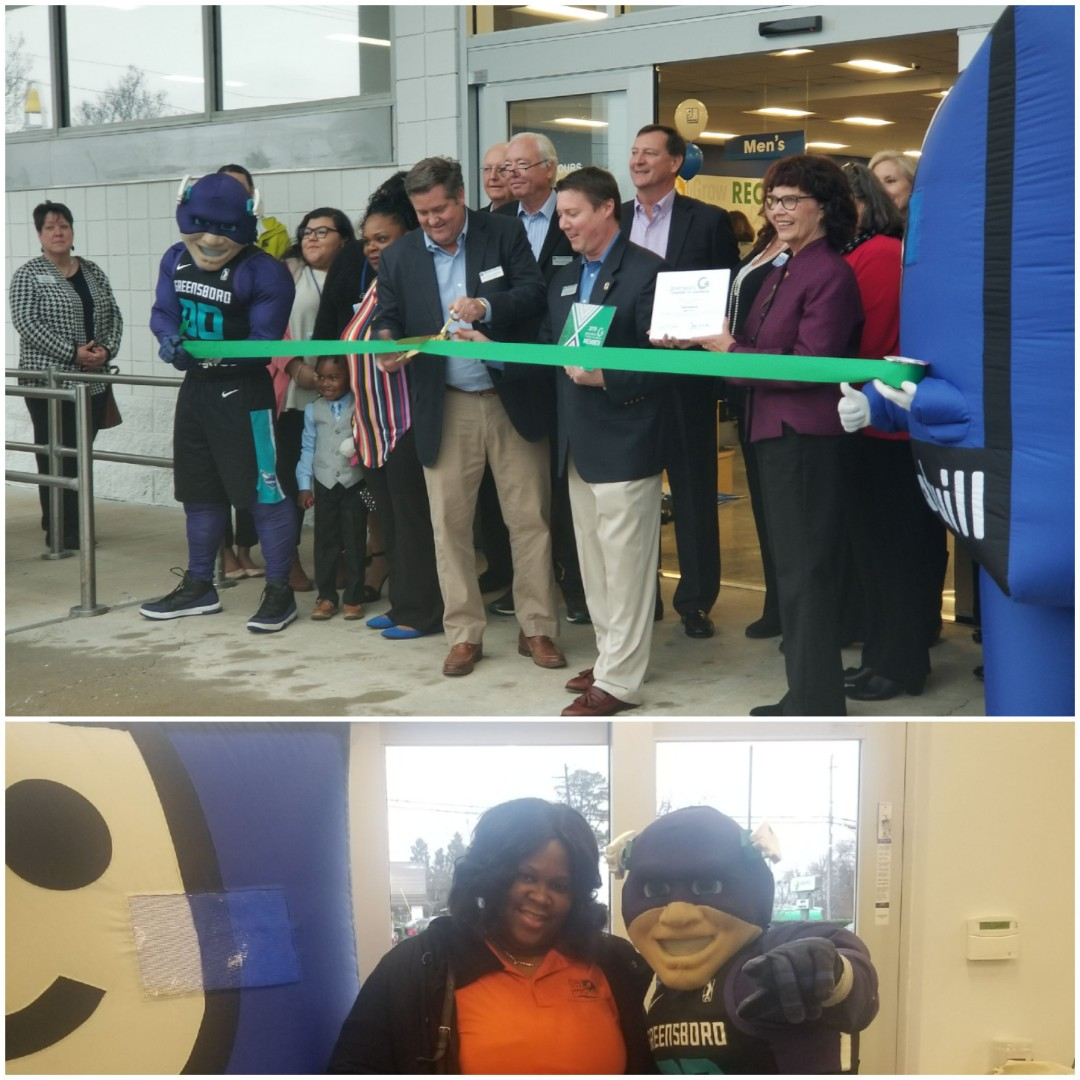 Greensboro, NC - Goodwill Ribbon Cutting. Out supporting the community.  Goodwills new store is beautiful. Every .85 out of 1.00 spent goes to helping our community.  Good hanging out seeing Sergeant Sworm, Chamber of Commerce Members, City Counsil Women Marikay Abuzuaiter and many others.