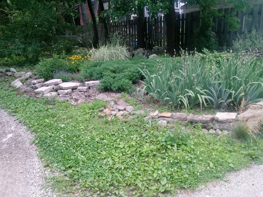 Columbus, OH - Wall rebuild and complete landscape make over