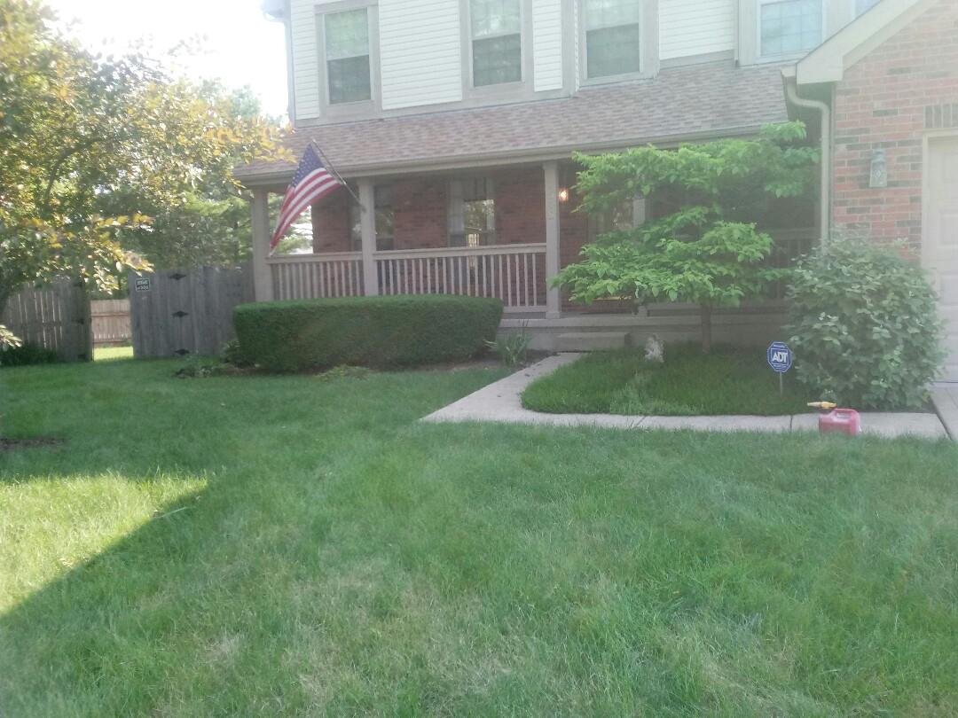 Columbus, OH - Saturday morning edge mulch and prune