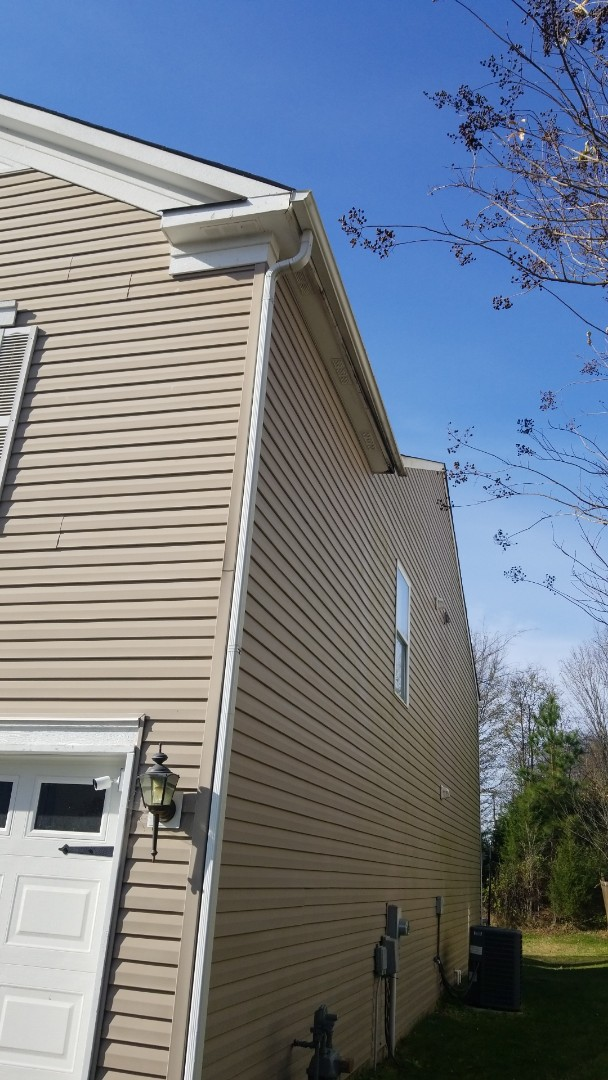 Harrisburg, NC - Inspection wind damage, this one has some need for facia repair. Aaron and Todd in Charlotte area.