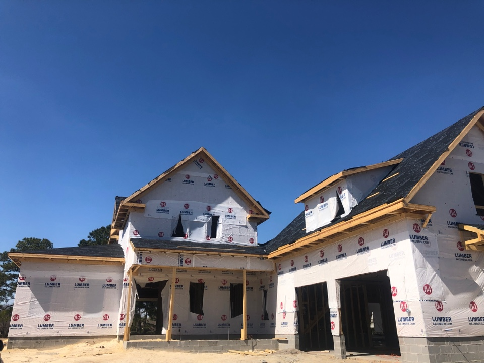 Wilmington, NC - Getting read to start the roof on this custom home.