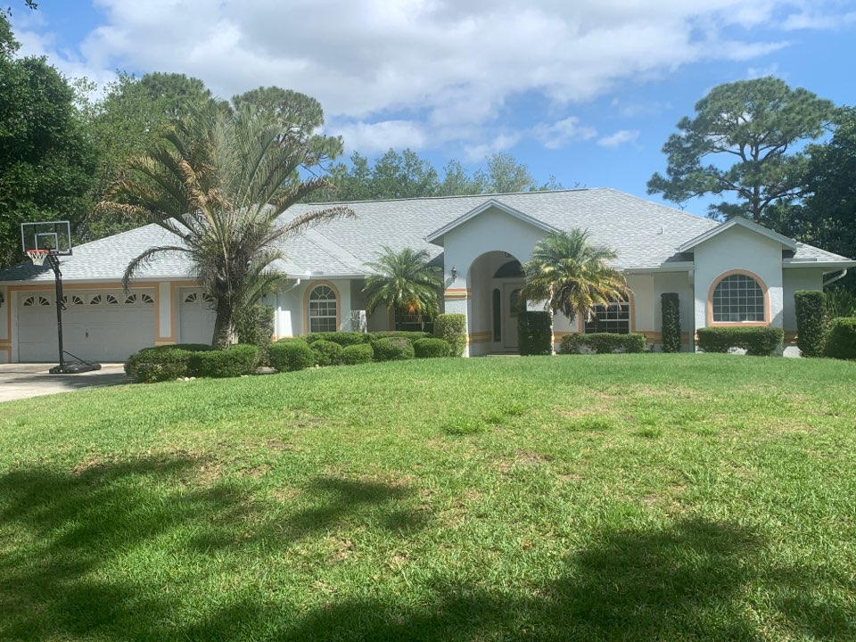 Palm Bay, FL - Beautiful GAF Birchwood HDZ Shingle roof completed by Elevate Roofing and Exteriors Inc . Protected by GAF no wind max  warranty !