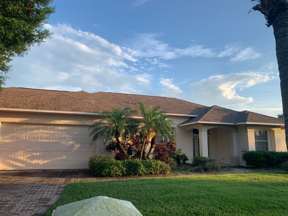 Merritt Island, FL - Another beautiful GAF HDZ Shakewood   Shingle roof completed by Elevate Roofing and Exteriors Inc .  Need a roof.  call Randy at 321-223-4973.