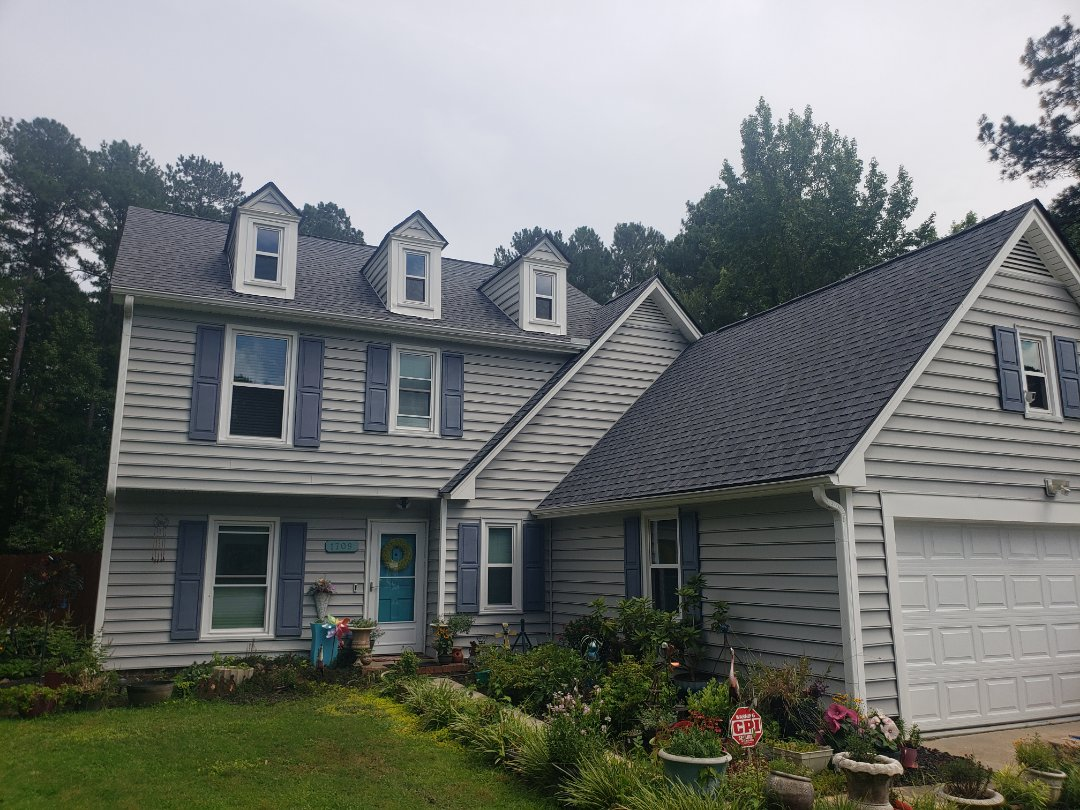 Raleigh, NC - New 50 year Certainteed Landmark pewter gray laminated shingle roof
