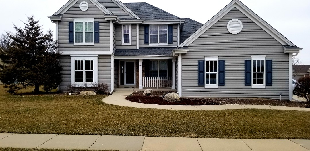 """Waterford, WI - Met with client who is looking to give this house some """"curb appeal"""".  They just bought it and are excited about transforming it."""