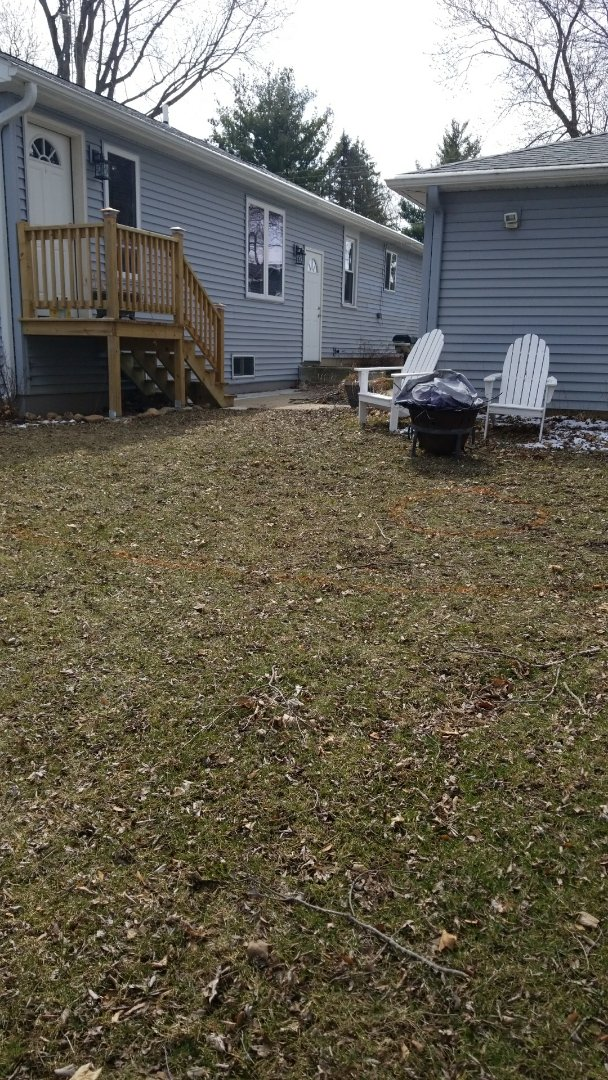 Salem, WI - Client is looking to transform her backyard into an outdoor living space using Rochester Concrete Products Lamont for the pavers and Rochester Concrete Products Lakeland retaining wall block for both the seat wall and the firepit.  Can't wait to help this client help enjoy their summer nights in her new outdoor oasis.