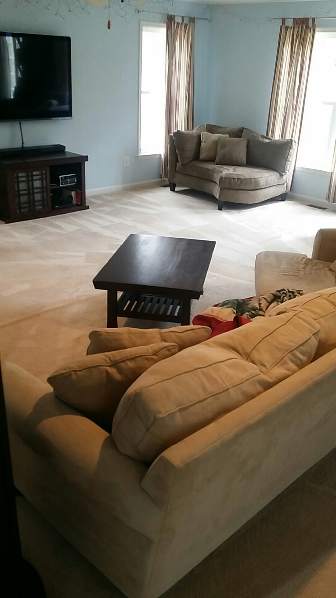 Powhatan, VA - Family Room Carpet turned out Great!