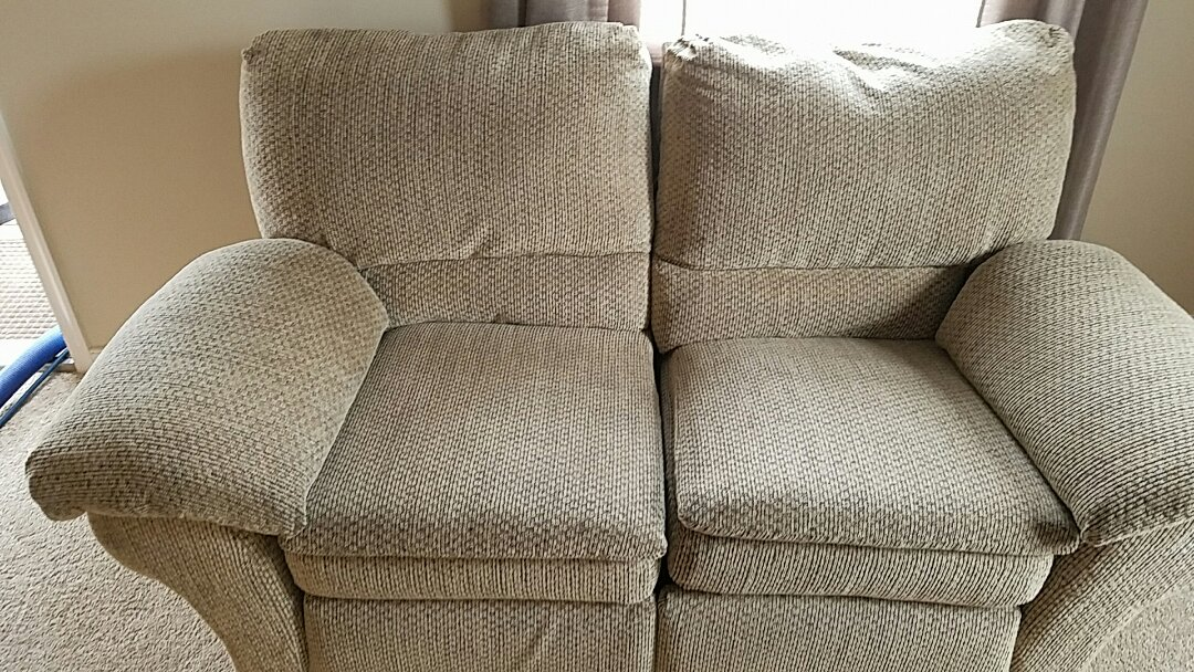 Richmond, VA - This sofa is 18 years old and never was cleaned until today. Looks amazing considering its age!