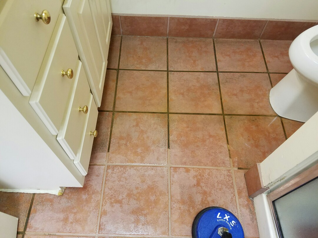 Henrico, VA - Look at how well this tile and grout has cleaned up! What a difference!