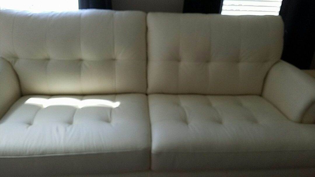 Mechanicsville, VA - This leather sofa may be 15 years old but it still looks brand new thanks to a regular cleaning and conditioning.