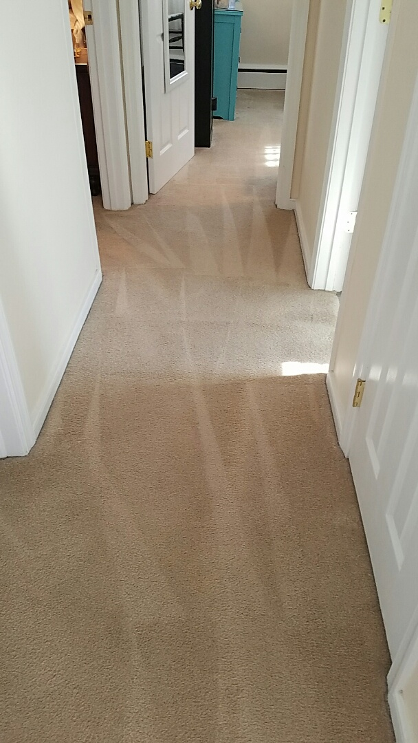 Richmond, VA - This hallway was littered with spots before and after a thorough cleaning it looks great!