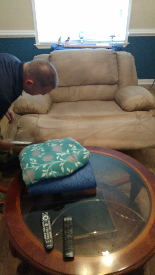 Richmond, VA - Micro fiber cleans up amazing! A great way to make your furniture look and smell new again!