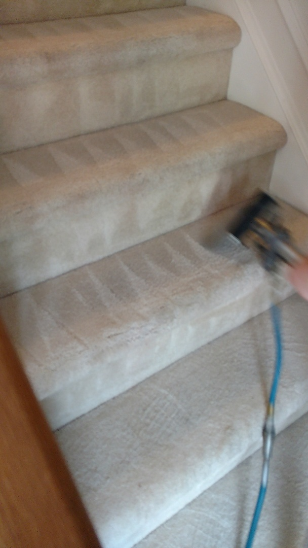 Chesterfield, VA - We clean stairs by hand so that you can ensure a thorough cleaning was done in your home!