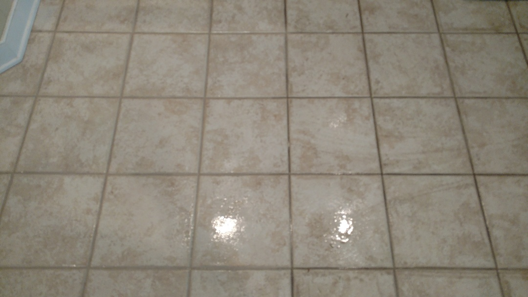 Chester, VA - Did you know we clean tile as well??? Just look at the difference!