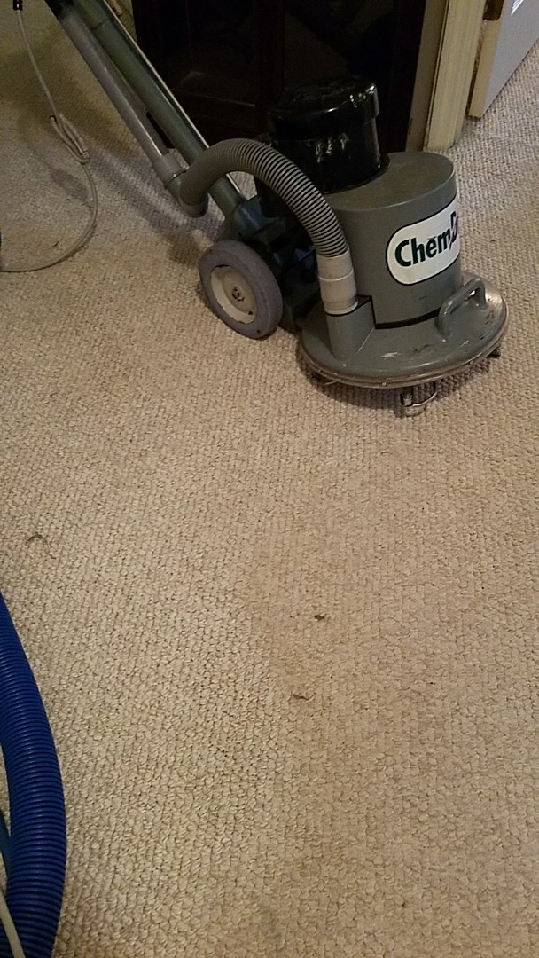 Henrico, VA - This dull carpet is cleaning up great!