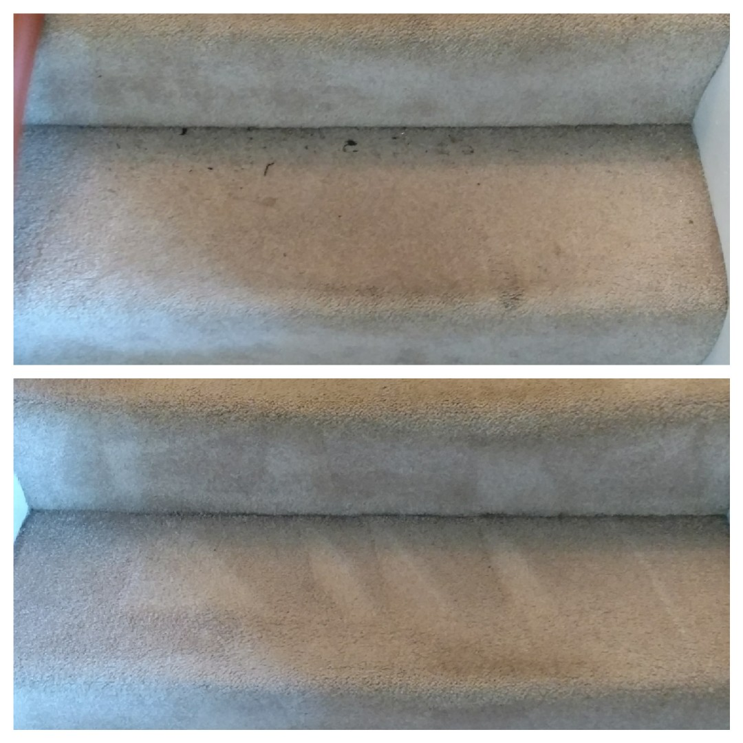 Richmond, VA - Stairs cleaned up great!