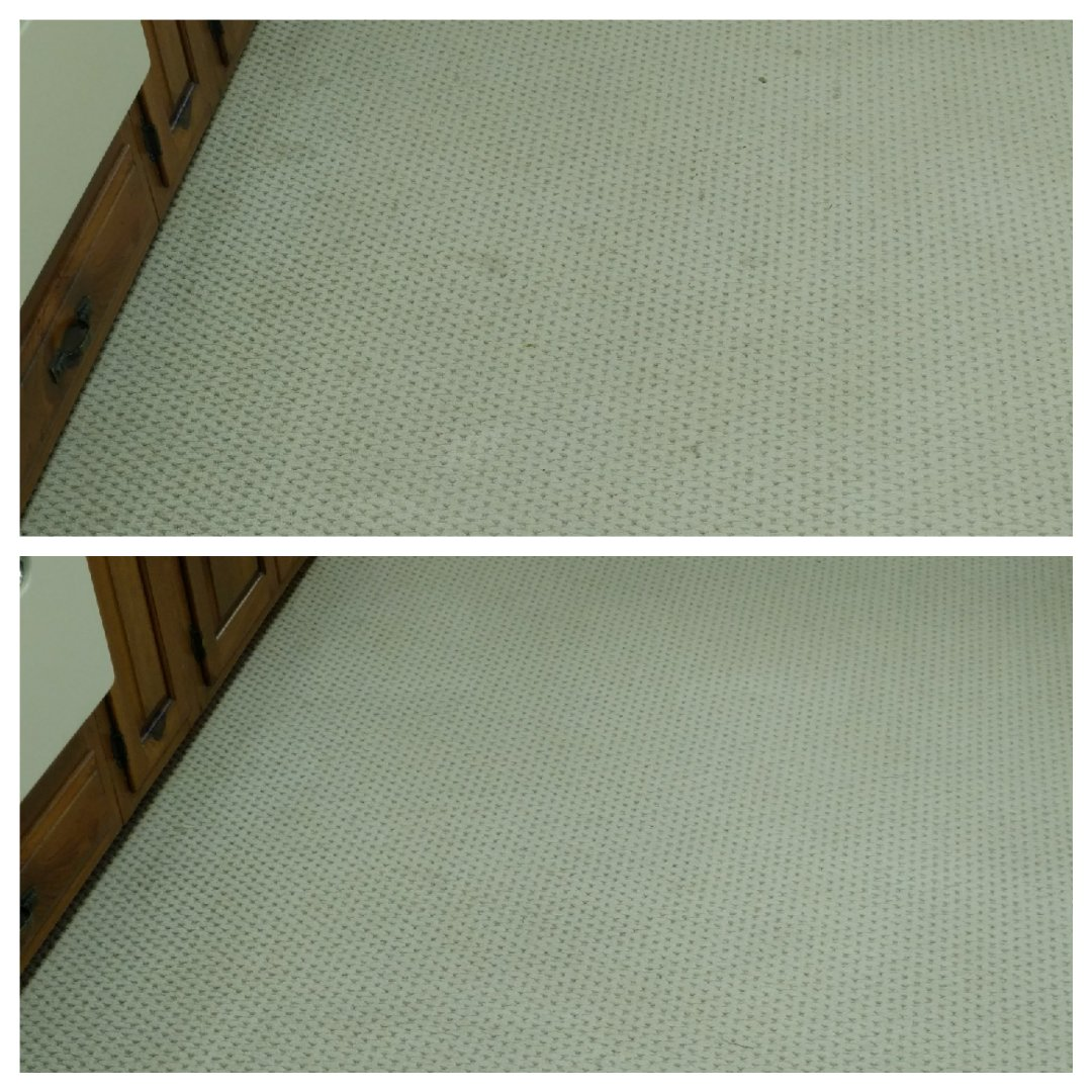 Richmond, VA - Kitchen carpet is cleaning up great! Before on top, after on bottom!