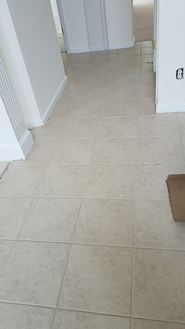 Glen Allen, VA - We just got done cleaning this tile and grout and wow, what a difference!