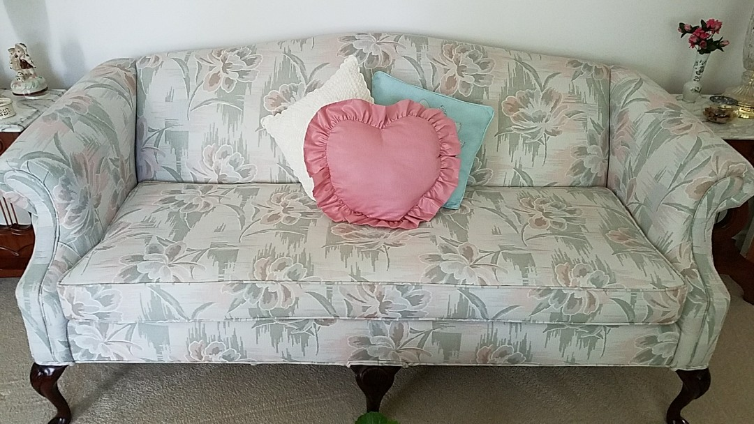 Richmond, VA - After a good cleaning you would never guess this sofa lived in a house with 4 boys and was 25 years old! Wow it looks great!