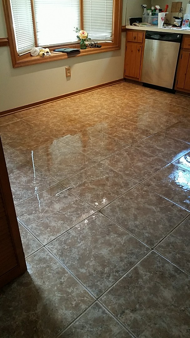 Mechanicsville, VA - Just got done cleaning and resealing this tile and grout and look at that gorgeous shine!