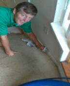 Richmond, VA - Carpets came out amazing and Brian cleaning the heck out of some baseboards!