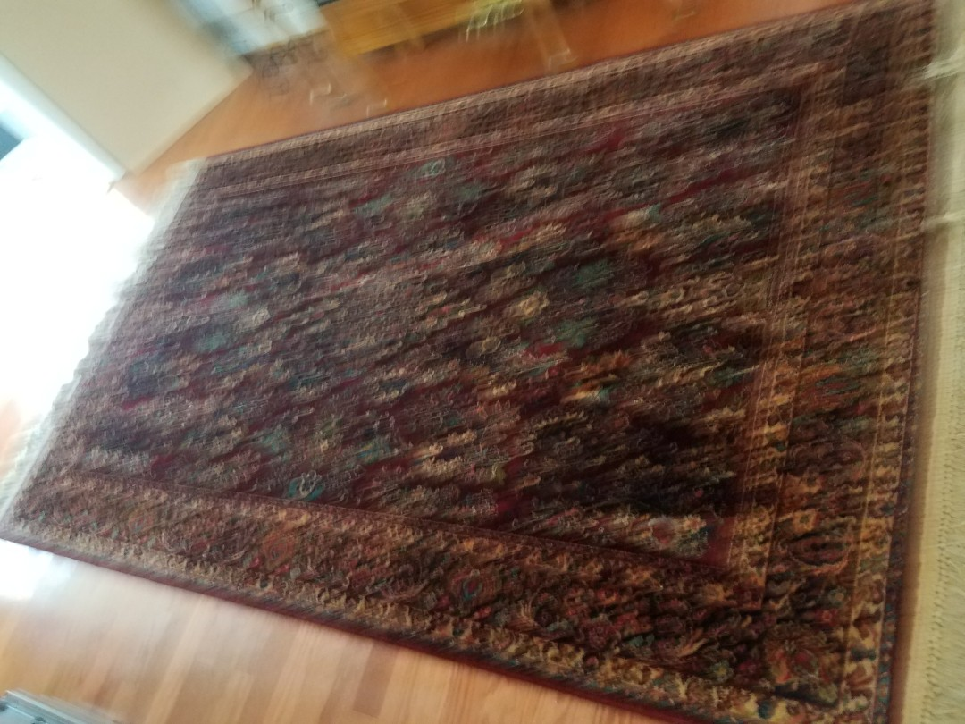 Glen Allen, VA - This Oriental rug had every single thing you could imagine in it and in it from this family's doggie. Look at it now, no smells and no stains!
