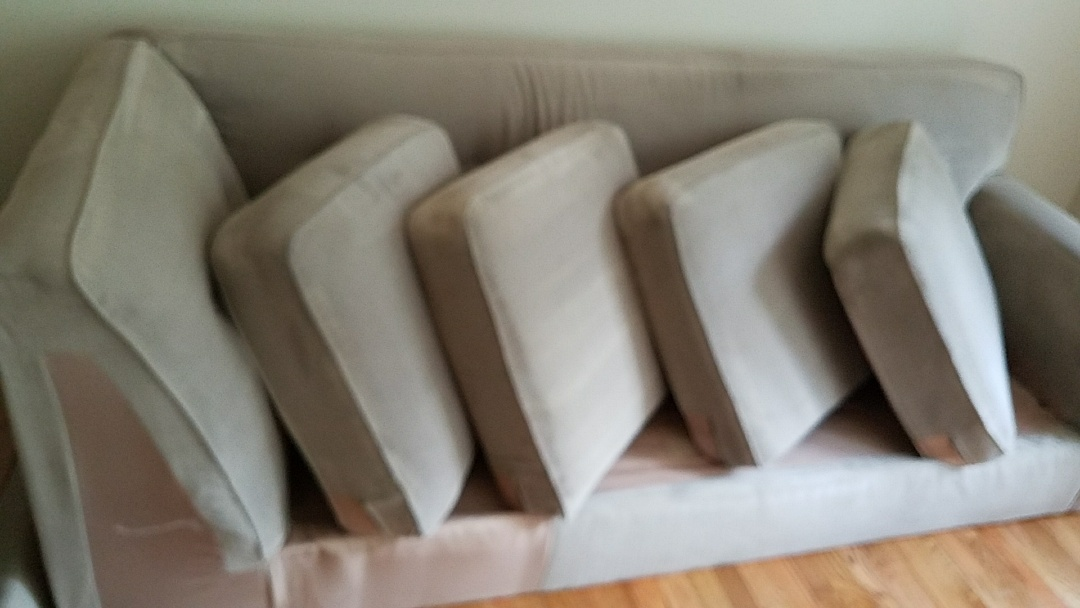 Maidens, VA - With 3 boys and a dog this sofa looks almost brand new after a good cleaning. NOT to mention the smells are all gone!