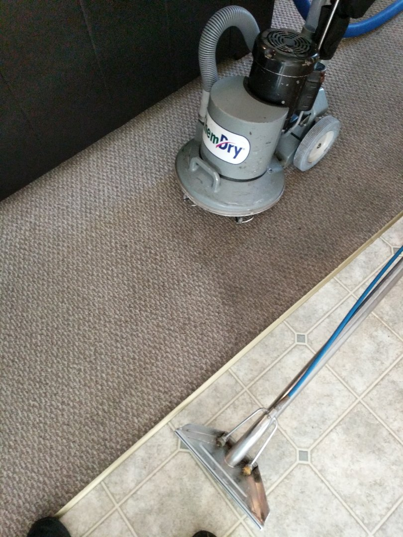 Chester, VA - Berber carpet cleans up great, even more when you use Chemdry!