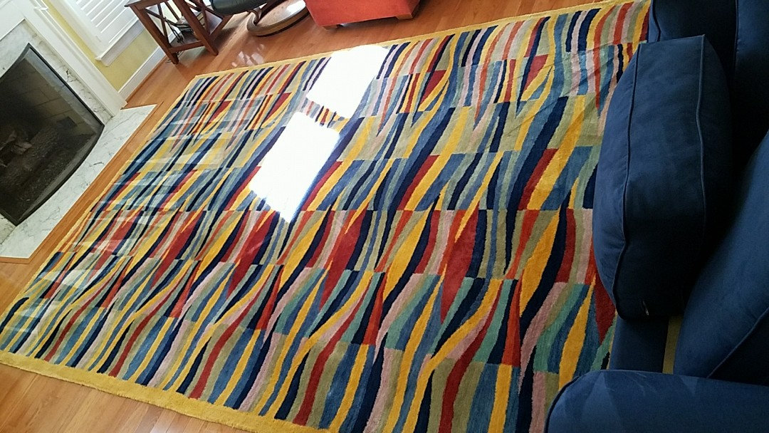 Henrico, VA - This wool  rug is absolutely glowing after a good cleaning!!