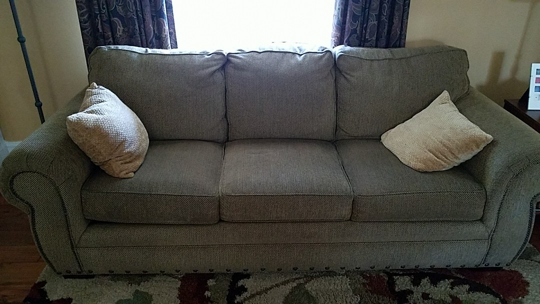 Richmond, VA - This sofa is now doggy hair and dander free! Just in time for this customers mother who is allergic to dogs!