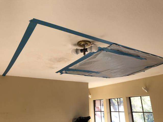Fort Worth, TX - Finished the mitigation for the water damage at a home in Fort Worth, Texas caused by a roof leak.