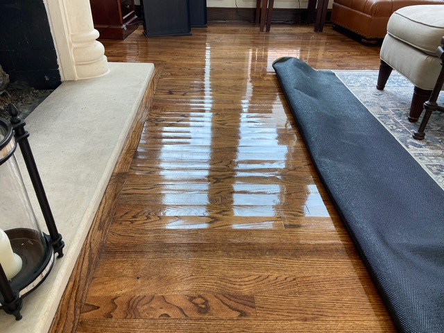 Did a free water damage estimate at a home in Plano, Texas after they suffered a slab leak which caused damage to their hardwood floors and drywall.