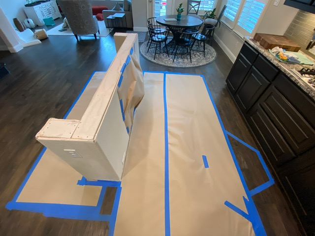 Inspecting some of the repairs at one of our water damage restoration jobs in Little Elm, Texas.