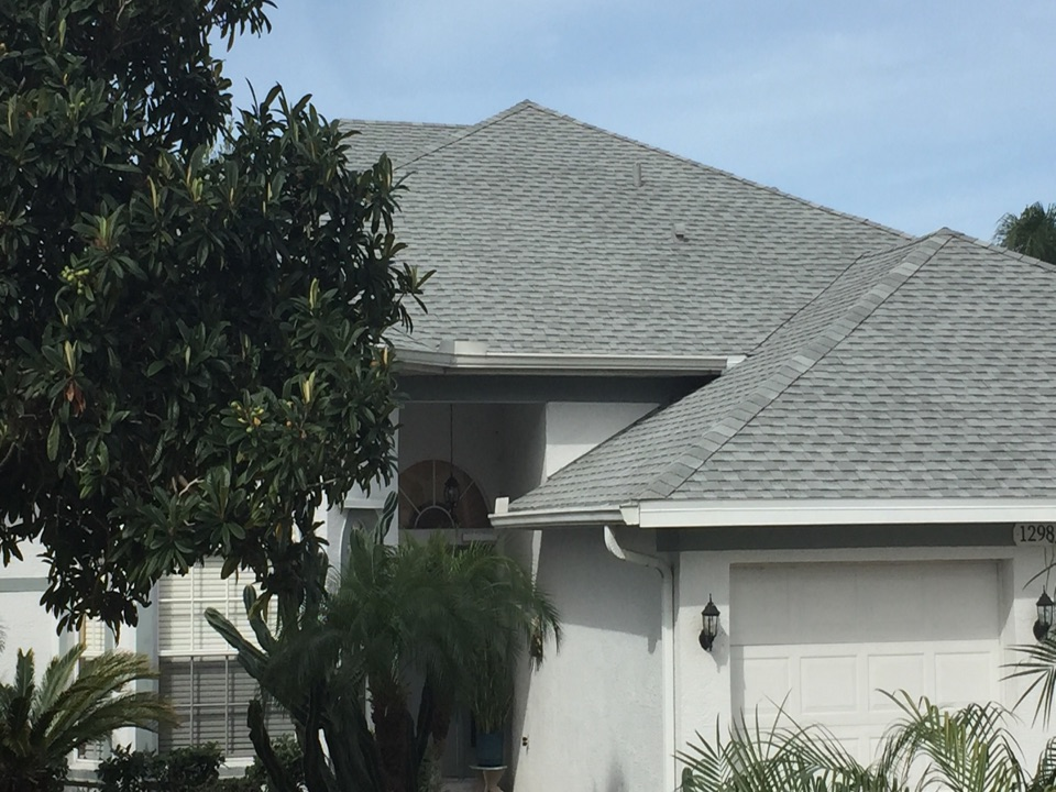 Tarpon Springs, FL - This is a beautiful GAF shingle roof the was just installed by Arry's Roofing.