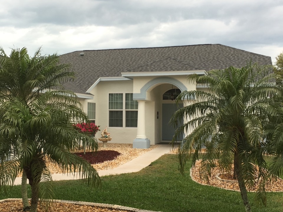 Tarpon Springs, FL -  Arry's Roofing just installed a GAF shingle roof on this Tarpon Springs home