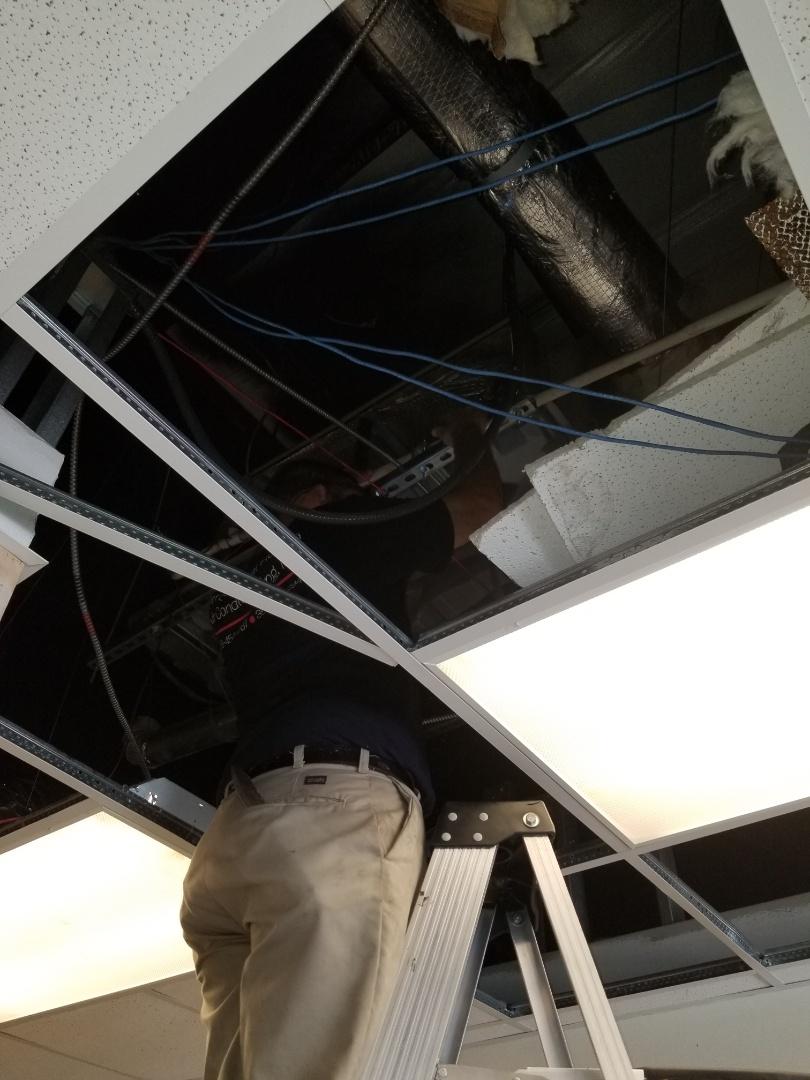 Panama City Beach, FL - 2.5 ton Goodman installation in a drop ceiling