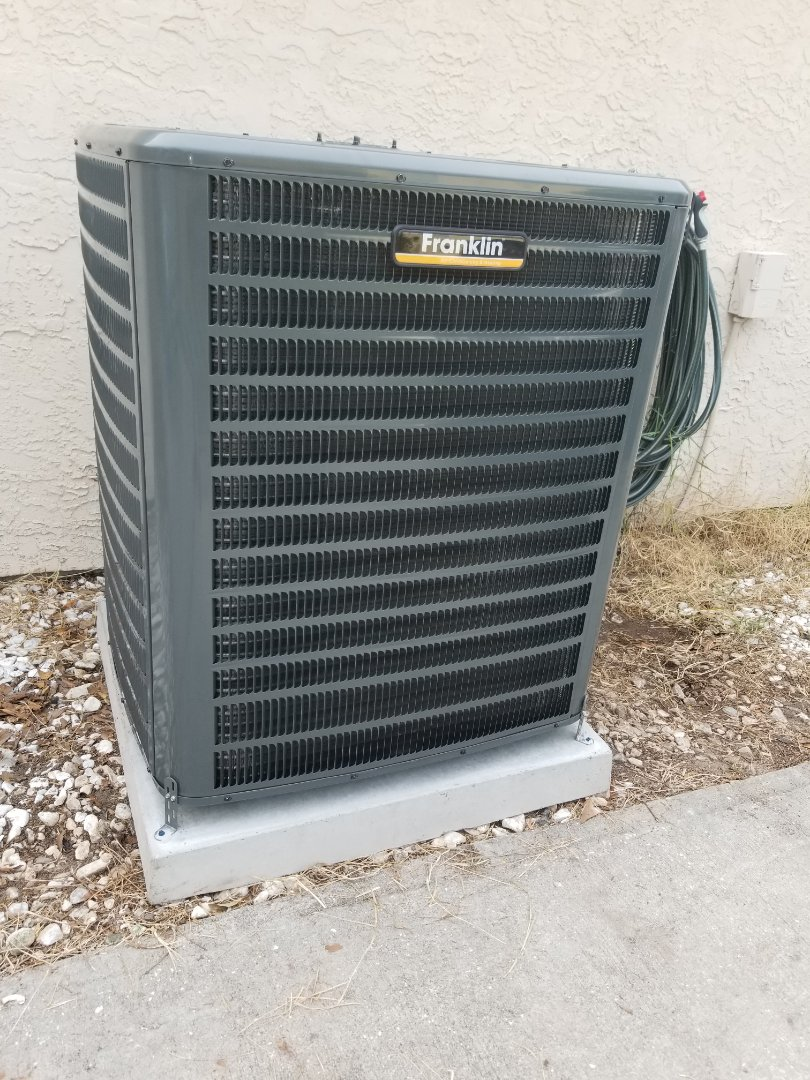 Panama City, FL - Installing new 3 ton 16 seeer Franklin a/c unit best warranty in the business