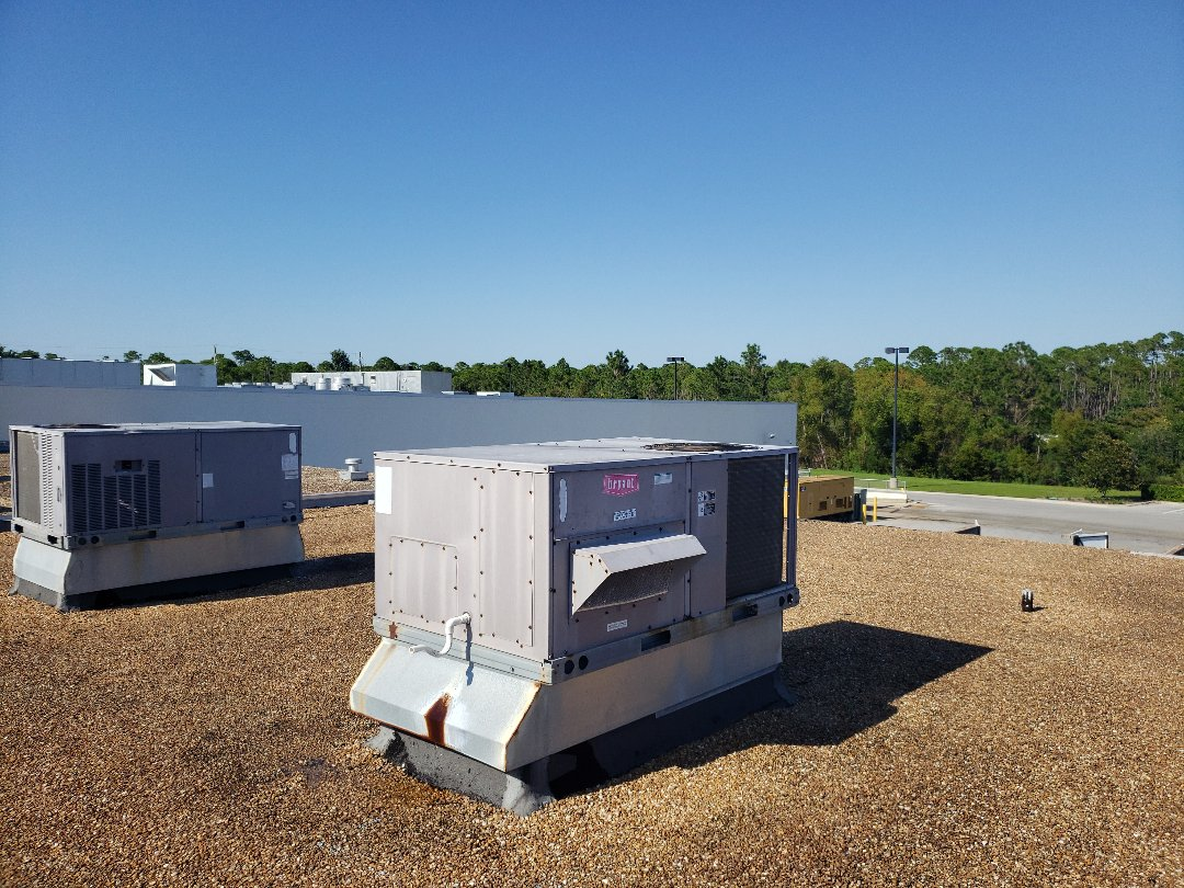 Panama City, FL - Filter change on two rooftops units on the beach.