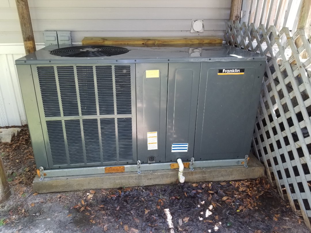 Lake City, FL - Did maintenance on 1yr old Franklin package unit