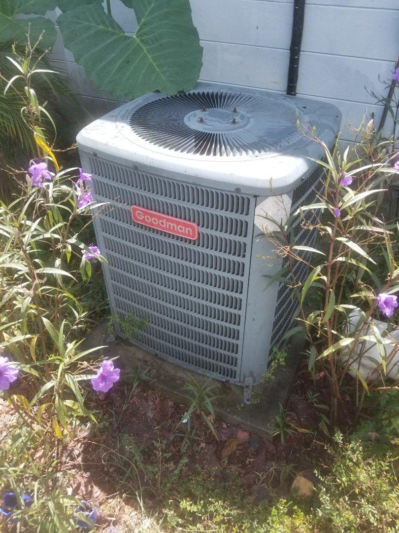 Did maintenance on 8yr old Goodman system