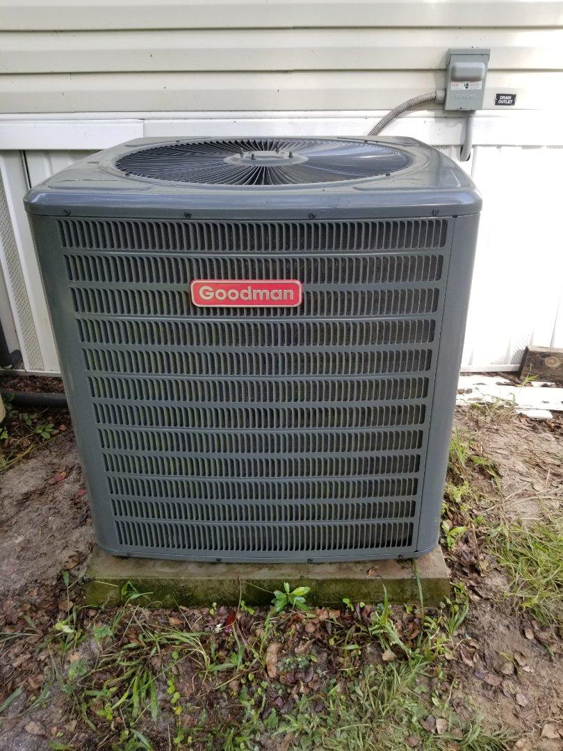 Did maintenance on 3yr old Goodman system