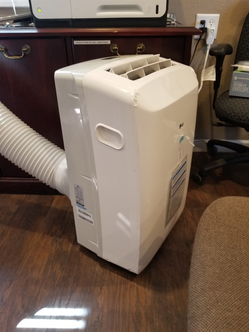 Panama City, FL - A broken ac system shouldn't mean you're miserable.  Dropping off a portable ac system for a client while equipment is being ordered to keep them cool