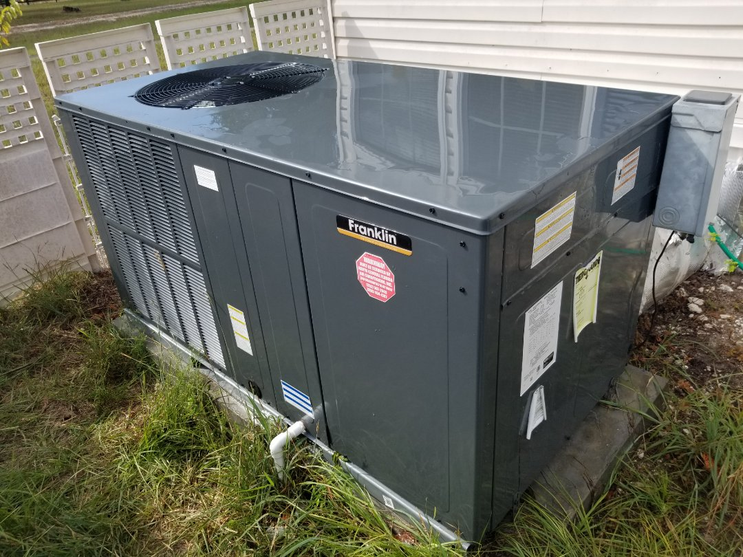 Lake City, FL - Did maintenance on 6month old Franklin package unit