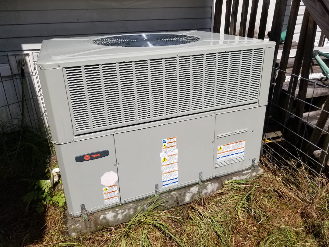 Did maintenance on 1yr old trane package unit