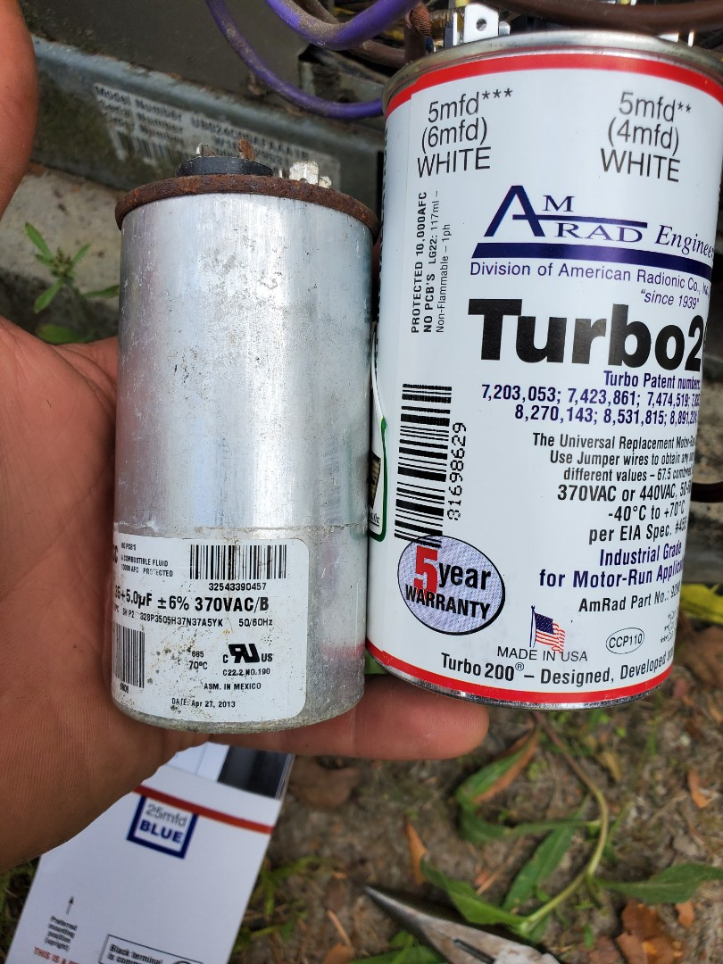 Fort White, FL - Upragding stock Chinese capacitor with made in America turbo start assist capacitor